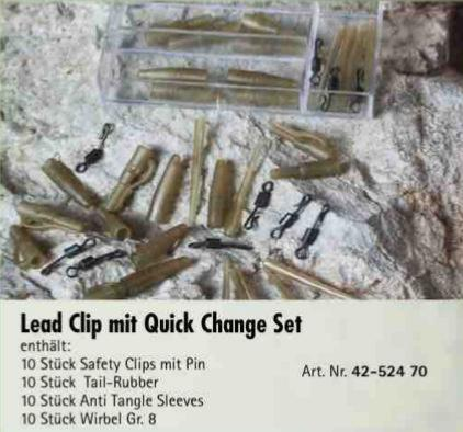 Lead Clip Quick Change Set Carpfishing RedCarp