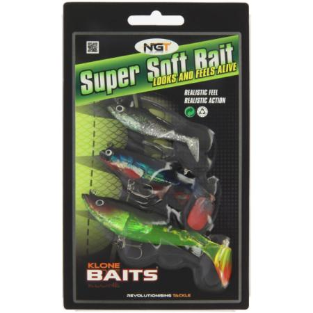 Set 3 Vinilos Super Soft Baits NGT