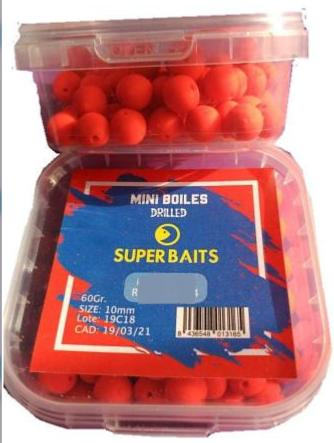 Mini Boilies Agujereados 10mm Monster Crab Superbaits