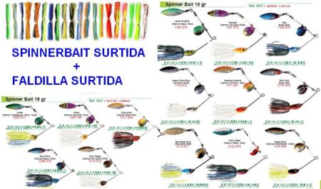 Spinnerbait Surtida Teeth 18gr + Faldillin Strike King