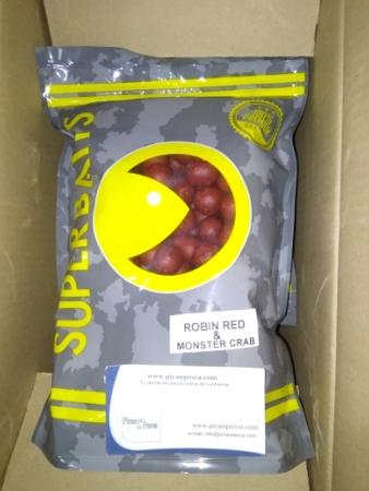 Boilies de Pesca Superbaits Robin Red & Monster Crab 20mm 1kg