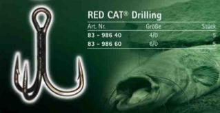 Anzuelos Triples Pesca Siluro RedCat Drilling