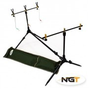 Trípode Carpfishing NGT Session + Apoyacañas + Tensores + Funda