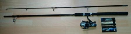 Combo Pesca  Caña Spinning 2.1 +Carrete+Sedal Ron Thompson