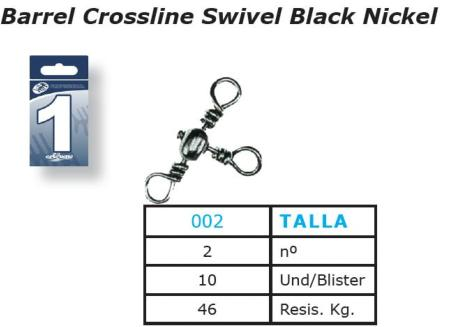 Esmerillones Pesca Esquena Barrel Cross Line Swivel