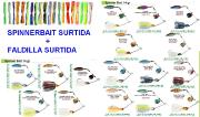 Spinnerbait Surtida Teeth 14gr + Faldillin Strike King